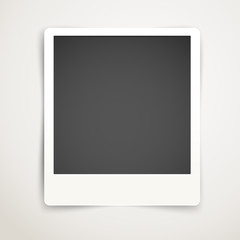Blank photo frame template. Ready for a content