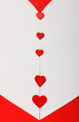 Red Valentine's Day background with heart