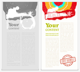 Abstract vector poster, place for your magazine or brochure