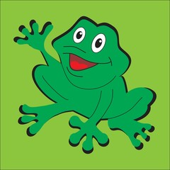 Забавная лягушка Vector illustration of funny frog