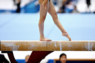 Photo sur Plexiglas Gymnastique Balance Beam