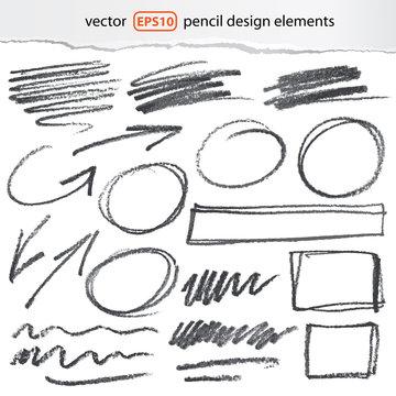 one click change color - vector pencil elements