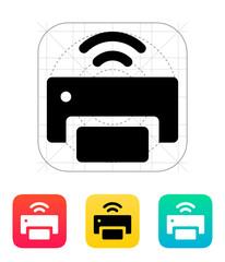 Wireless printer icon.