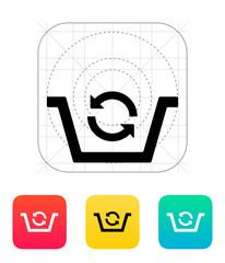 Shopping basket exchange icon.