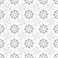 seamless geometric and floral pattern