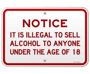 Alcohol Notice 18 Years
