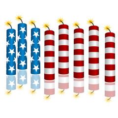3d Flag Firecrackers