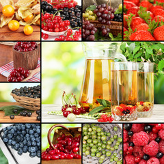 Juicy berries collage