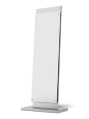 Blank banner stand
