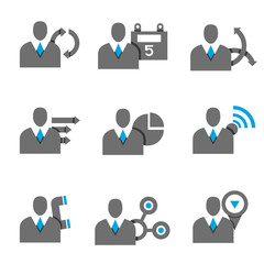 business people icons, profile