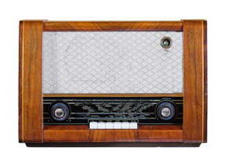 Old vintage radio from 1950s