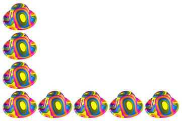 Wall Mural - Cornice di Cappelli colorati