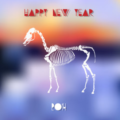 Creative vector illustration for Year of Horse