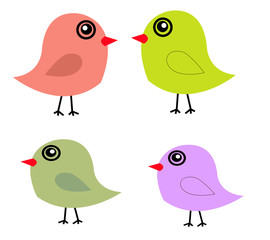 Cute birds in vector
