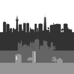 city art vector illustration