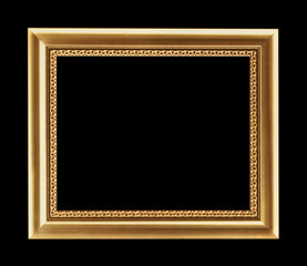 Vintage decorative antique frame, isolated on black background