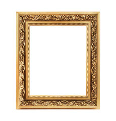 Vintage decorative antique frame, isolated on white background