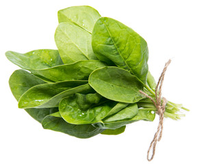 Portion of Spinach on white