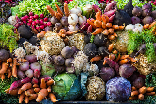 Selection of vegetables from a farmer's market