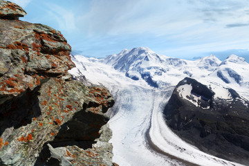 Glacier. Mountain Landscape Panorama. Switzerland