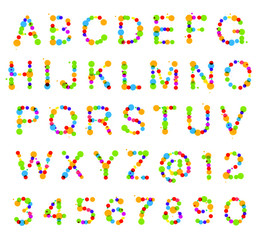 ABC alphabet made of blot spots