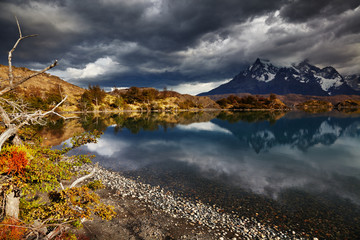 Wall Mural - Sunrise in Torres del Paine National Park