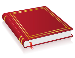 red book with bookmark vector illustration