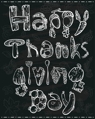 Thanksgiving lettering