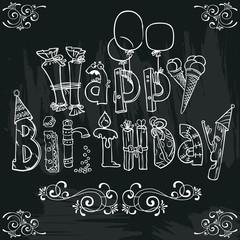Birthday lettering