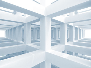 Abstract architecture background, empty interior