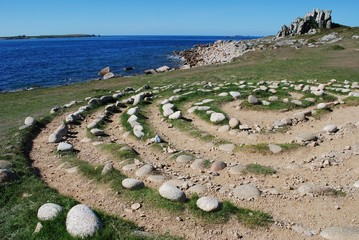 Troy Town maze, St. Agnes, Isles of Scilly, UK