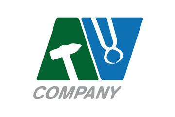 Handwerker Vektor Logo