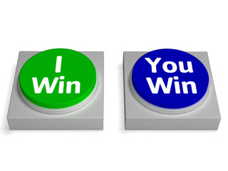 I You Win Button Shows Winning Or Losing