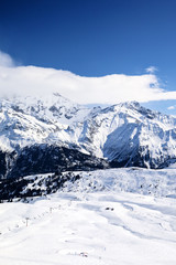 View of winter mountain landscape