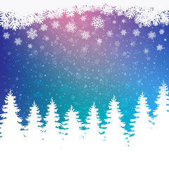colorful winter snowy background