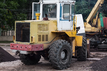 Large powerful tractor