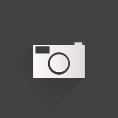 Photo camera web icon,flat design