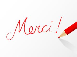 "Message ""MERCI"" (remerciements carte gratitude joie plaisir)"