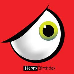 Happy Birthday card eye
