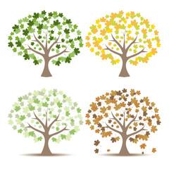 Set of trees Vector Illustration.