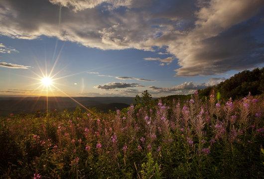 Sunset view in Western Massachusetts