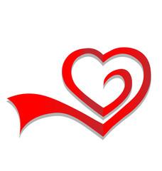 Heart symbol logo vector