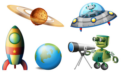 Spaceships and robots