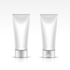 Vector Illustration of Tube for Cosmetic Package