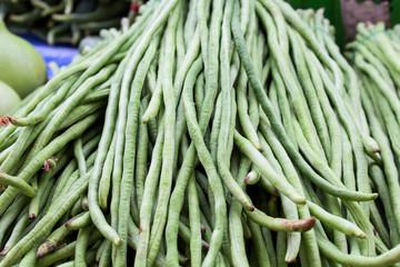 Long beans, in the Thai market