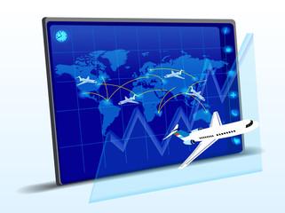 Flight info graphics