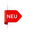 NEU - Roter Sticker Pfeil mit Schatten