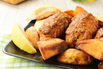 Involtini con patate al forno