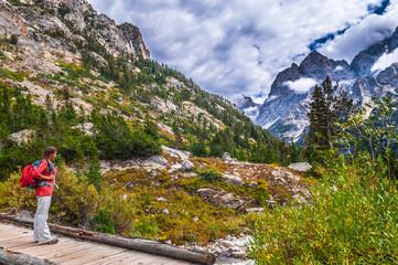 Hiking Cascade Canyon - Grant Tetons