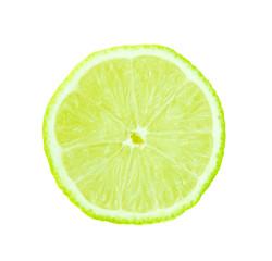 lime fruit slice isolated on white